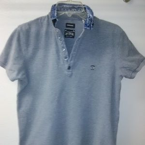 Diesel men's short sleeves polo size L color gray